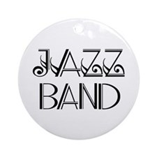 Stylish Jazz Band Ornament (Round)