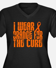 I Wear Orange For The Cure 16 Women's Plus Size V-