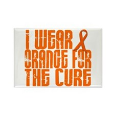 I Wear Orange For The Cure 16 Rectangle Magnet (10