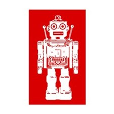 Red Robot Rectangle Decal
