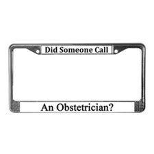 Obstetrician License Plate Frame