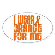 I Wear Orange For Me 16 Oval Decal