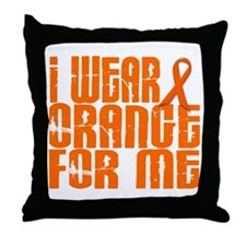 I Wear Orange For Me 16 Throw Pillow