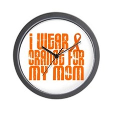 I Wear Orange For My Mom 16 Wall Clock