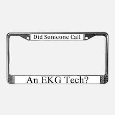 EKG Tech License Plate Frame