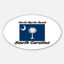 North Myrtle Beach South Carolina Oval Decal