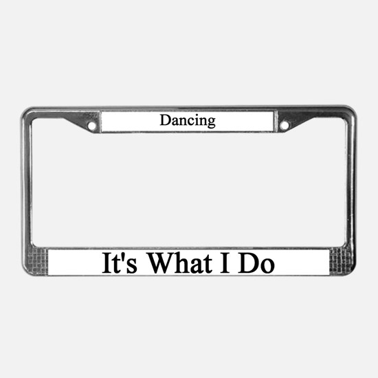 Dancer License Plate Frame