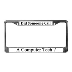Computer Tech License Plate Frame
