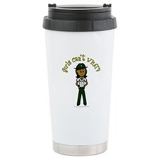 Dark Green Sheriff Travel Mug