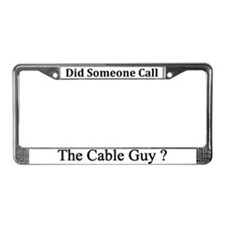 Cable Guy License Plate Frame
