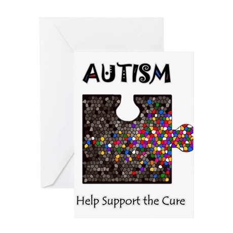 """""""Atuism Help Support the Cure Greeting Card"""