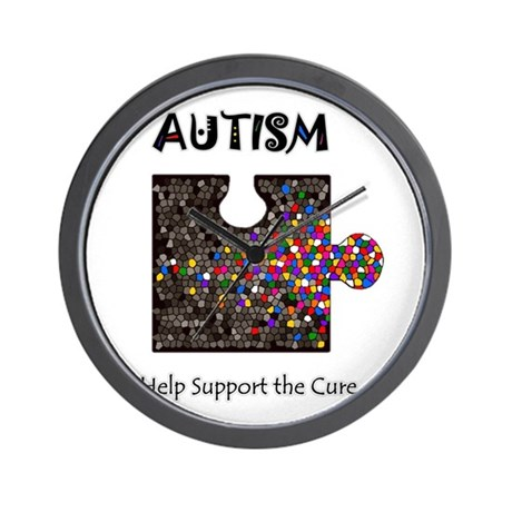 """Atuism Help Support the Cure Wall Clock"