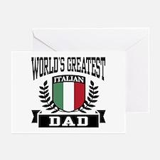 World's Greatest Italian Dad Greeting Cards (Pk of