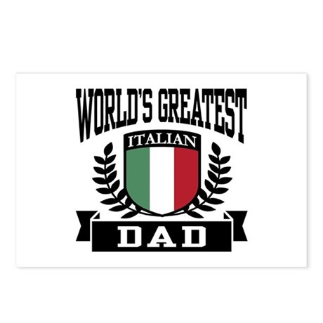 World's Greatest Italian Dad Postcards (Package of