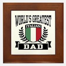 World's Greatest Italian Dad Framed Tile