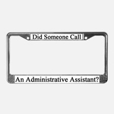 Administrative Assistant License Plate Frame