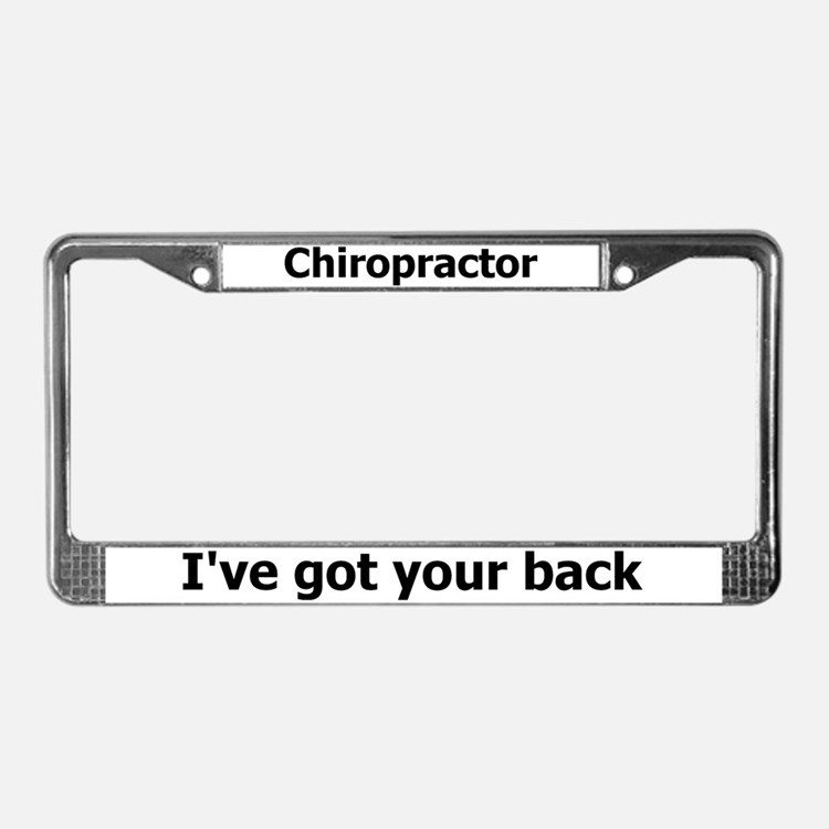 Chiropractor License Plate Frame