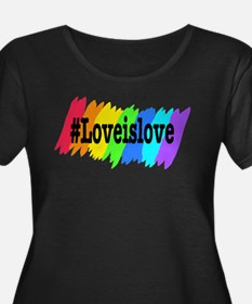Love is Love Marriage Equality Plus Size T-Shirt