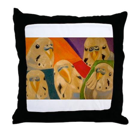 Budgerigar Parakeet Throw Pillow