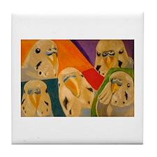 Budgerigar Parakeet Tile Coaster