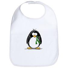Green Ribbon Penguin Bib