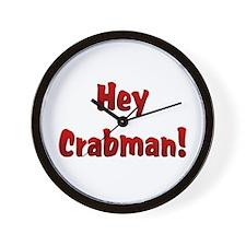 Hey Crabman Wall Clock