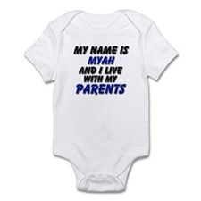 my name is myah and I live with my parents Infant