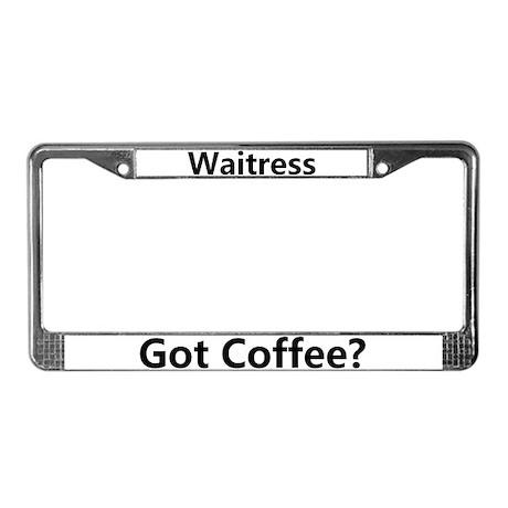 Waitress License Plate Frame