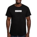 Actor Men's Fitted T-Shirt (dark)