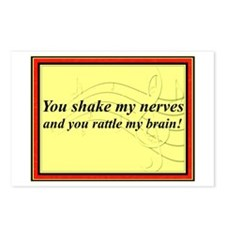 """""""You Shake My Nerves"""" Postcards (Package of 8)"""