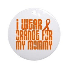 I Wear Orange For My Mommy 16 Ornament (Round)