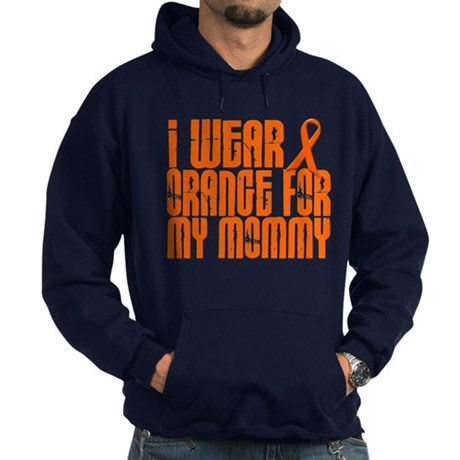 I Wear Orange For My Mommy 16 Hoodie (dark)
