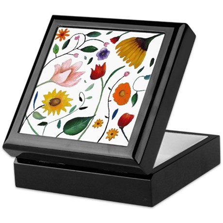 FLOWERS Keepsake Box