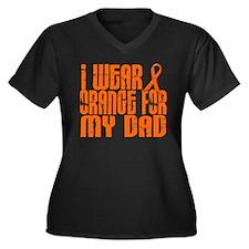 I Wear Orange For My Dad 16 Women's Plus Size V-Ne
