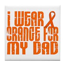 I Wear Orange For My Dad 16 Tile Coaster