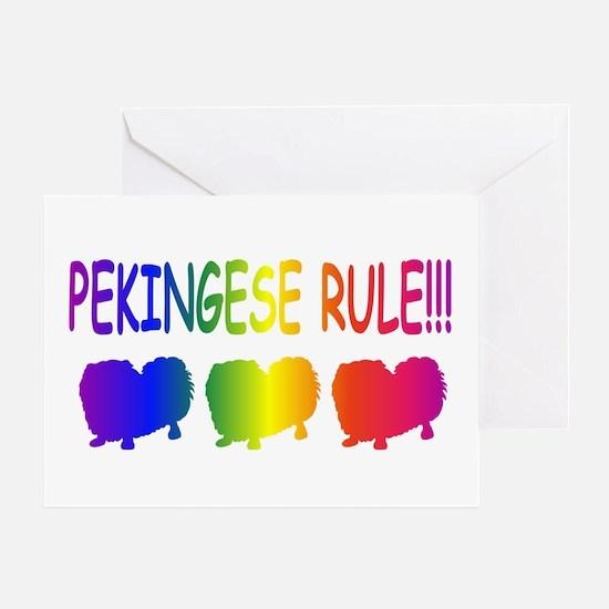 Pekingese Greeting Card
