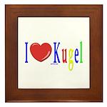 I Love Kugel Funny Jewish Framed Tile