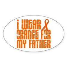 I Wear Orange For My Father 16 Oval Decal