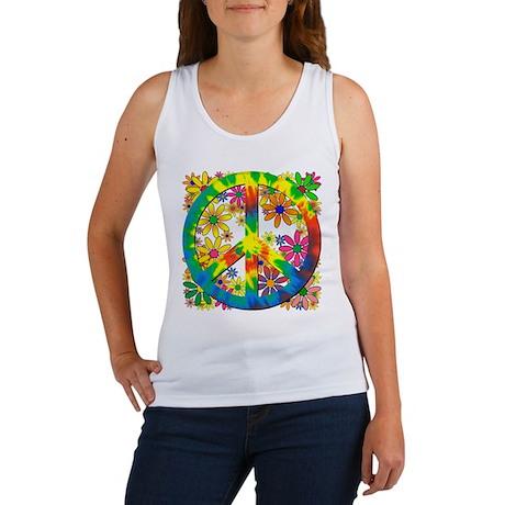 Flower Power Peace Women's Tank Top