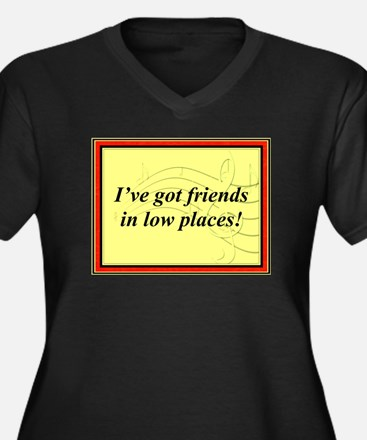 """Friends In Low Places"" Women's Plus Size V-Neck D"