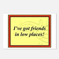 """Friends In Low Places"" Postcards (Package of 8)"