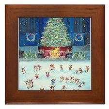Christmas Tree At Corgifeller Framed Tile