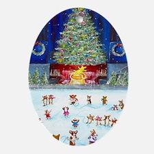 Christmas Tree At Corgifeller Oval Ornament