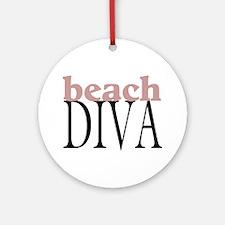 Beach Diva Ornament (Round)