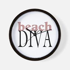 Beach Diva Wall Clock