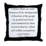 James Madison 8 Throw Pillow