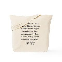 James Madison 8 Tote Bag