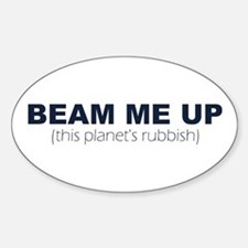 Beam Me Up Oval Decal