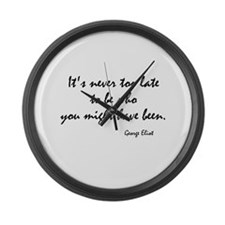 George Eliot Quote Large Wall Clock