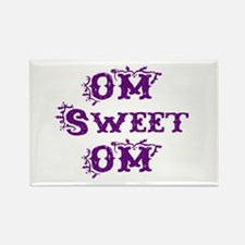 OM sweet OM Rectangle Magnet
